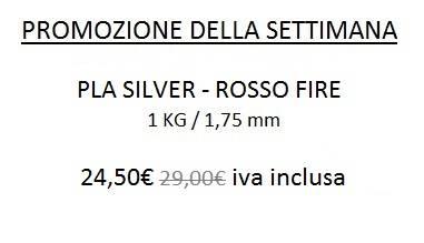 Promo PLA 1,75 mm Silver Rosso Fire
